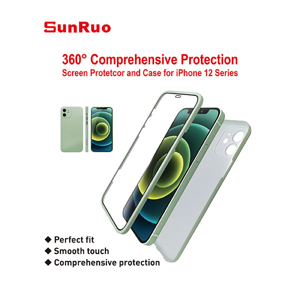 360° Comprehensive Protection screen protector and case