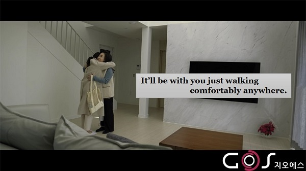 I will be with you walking comfortably.(Drama)