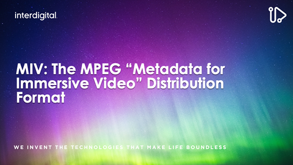 """MIV: The MPEG """"Metadata for Immersive Video"""" Distribution Format"""